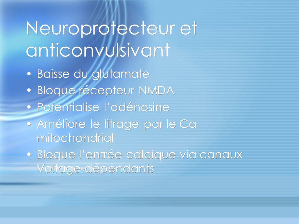 Neuroprotecteur et anticonvulsivant