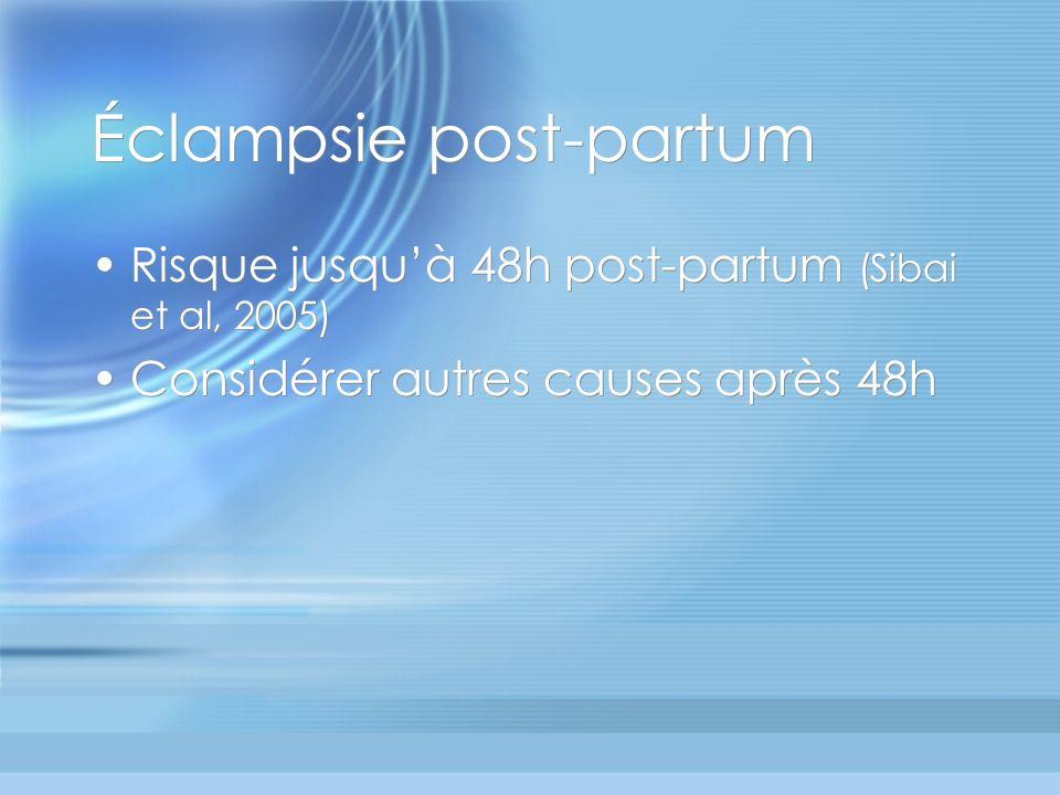 Éclampsie post-partum