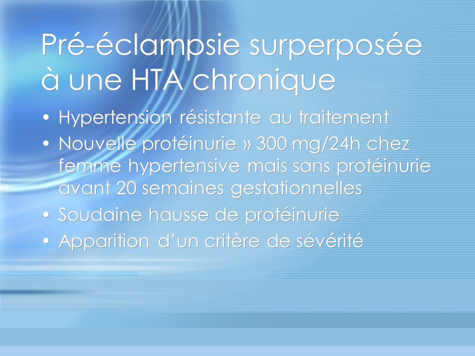 Pré-éclampsie surperposée à une HTA chronique