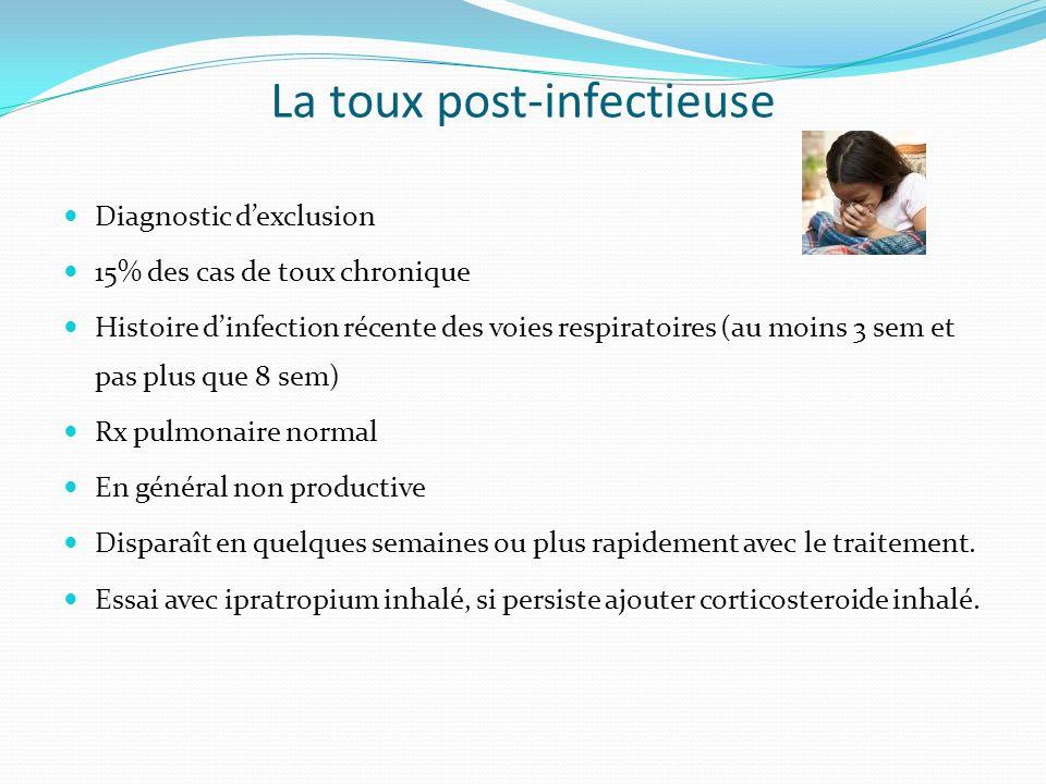 La toux post-infectieuse