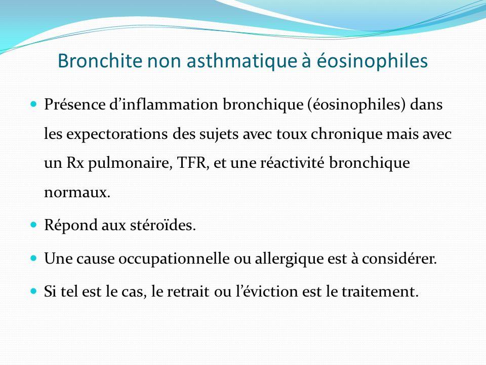 Bronchite non asthmatique à éosinophiles