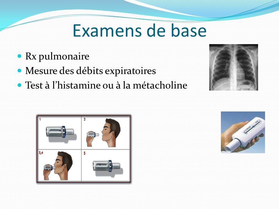 Examens de base Rx pulmonaire Mesure des débits expiratoires
