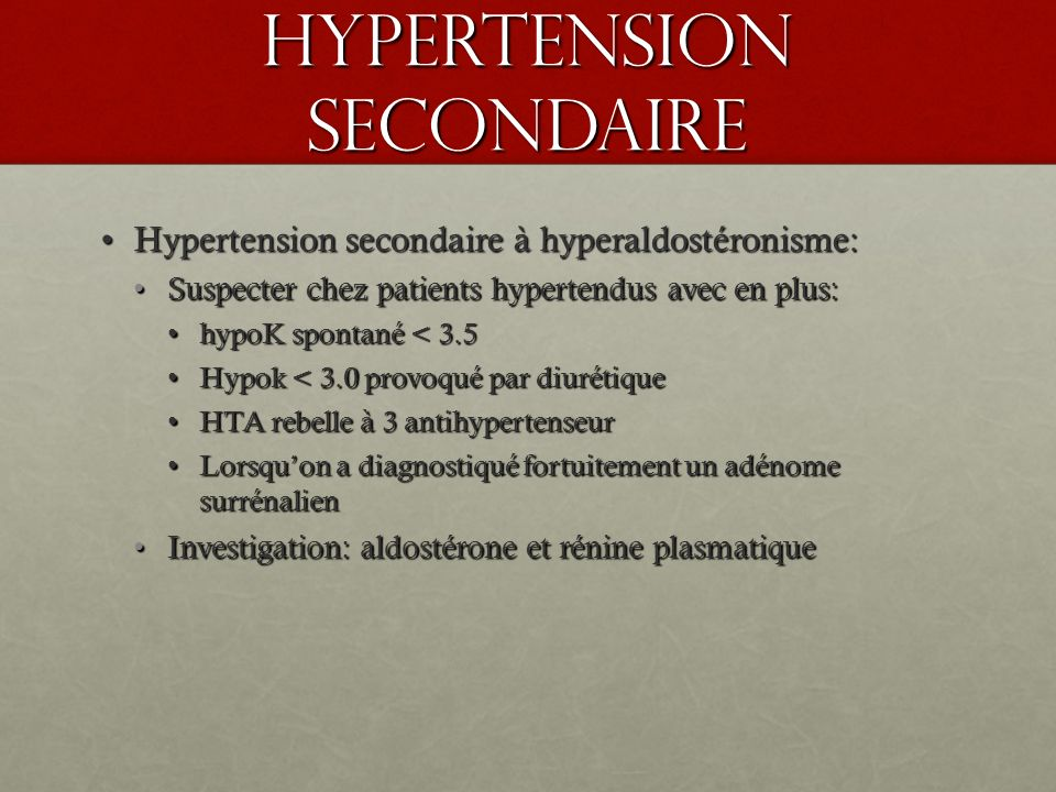 Hypertension secondaire