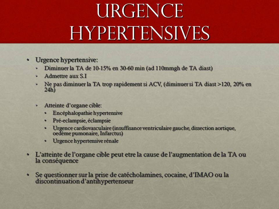 Urgence hypertensives