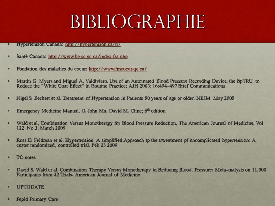 Bibliographie Hypertension Canada: http://hypertension.ca/fr/