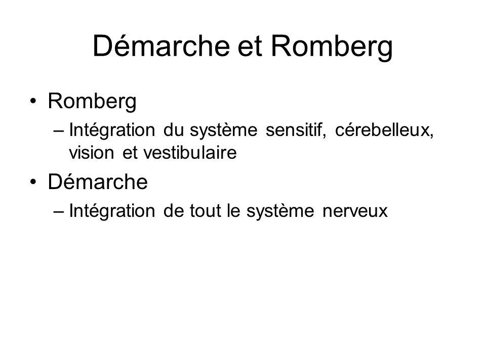 Démarche et Romberg Romberg Démarche