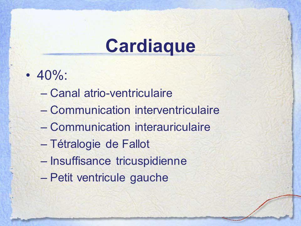 Cardiaque 40%: Canal atrio-ventriculaire
