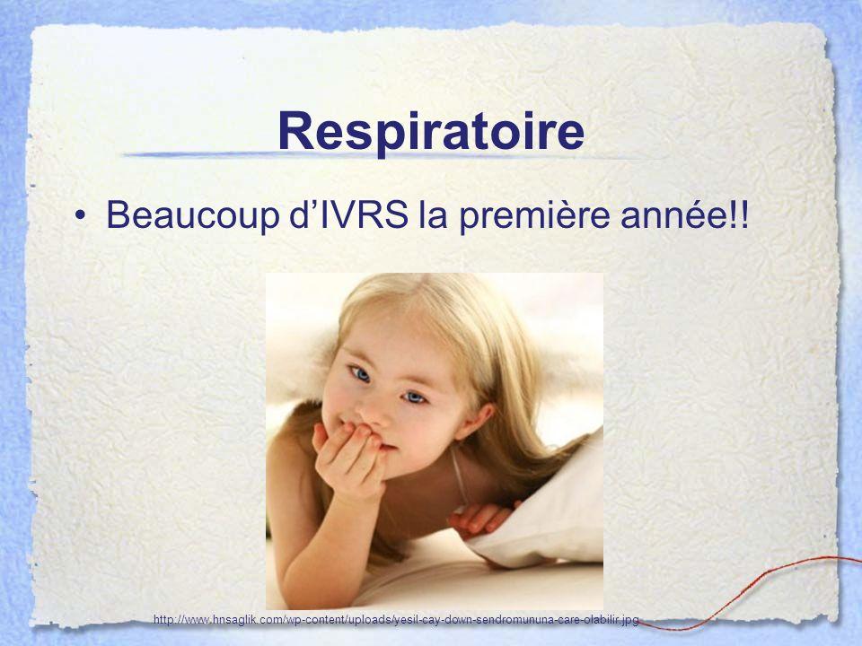Respiratoire Beaucoup d'IVRS la première année!!