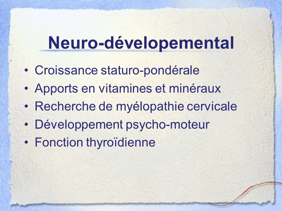 Neuro-dévelopemental