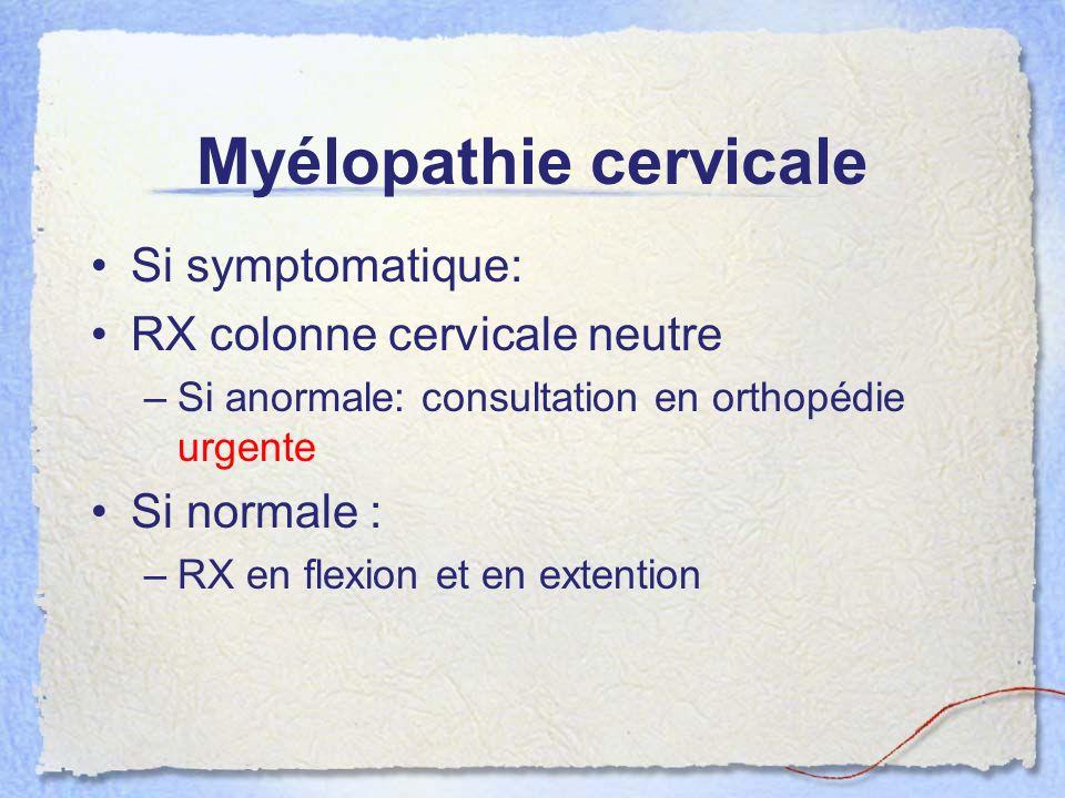Myélopathie cervicale