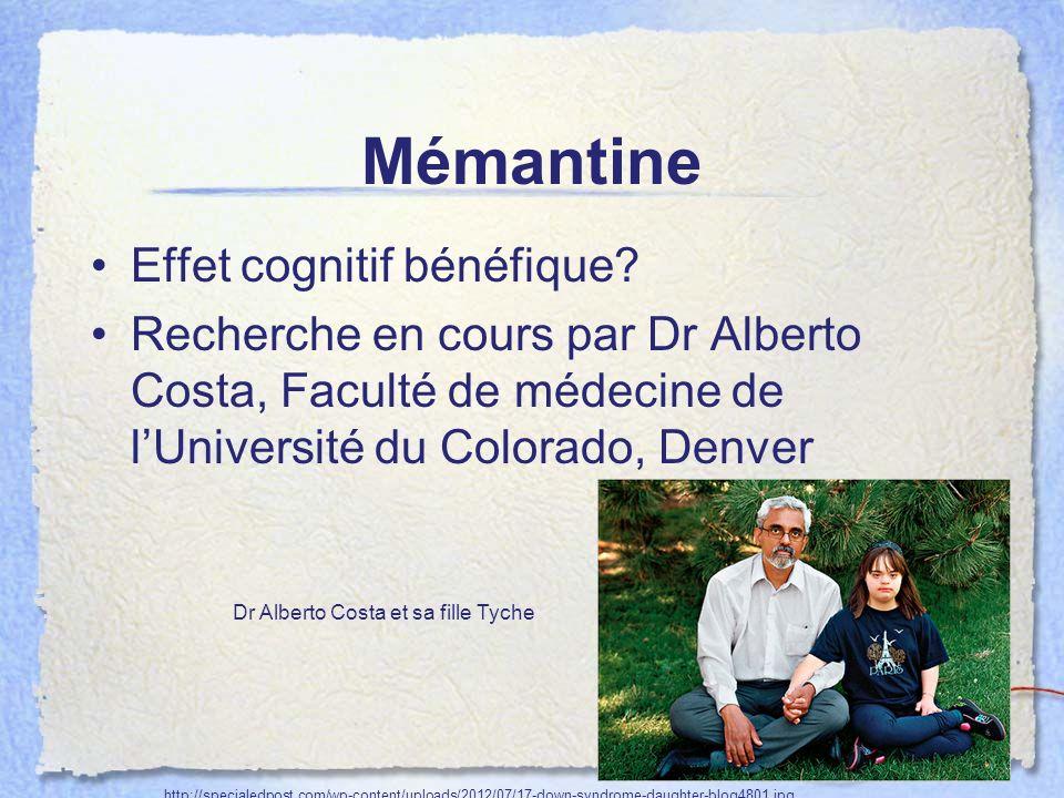 Mémantine Effet cognitif bénéfique