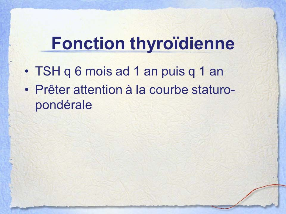 Fonction thyroïdienne