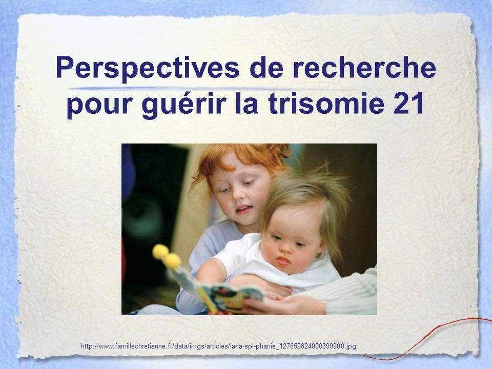 Perspectives de recherche pour guérir la trisomie 21