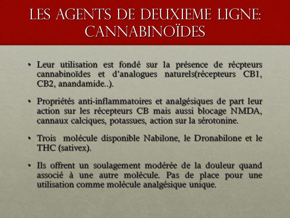 les agents de deuxieme ligne: cannabinoïdes