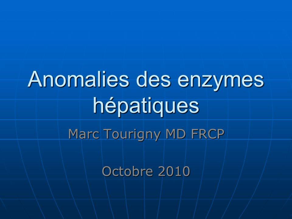 Anomalies des enzymes hépatiques