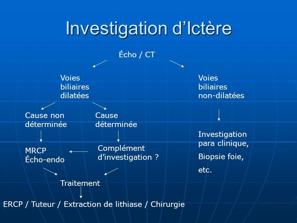 Investigation d'Ictère