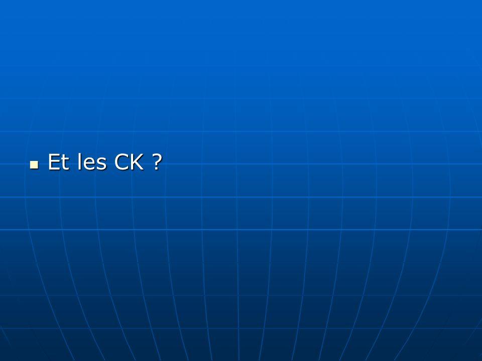 Et les CK
