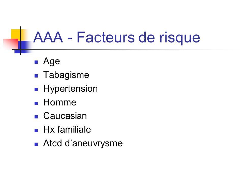 AAA - Facteurs de risque