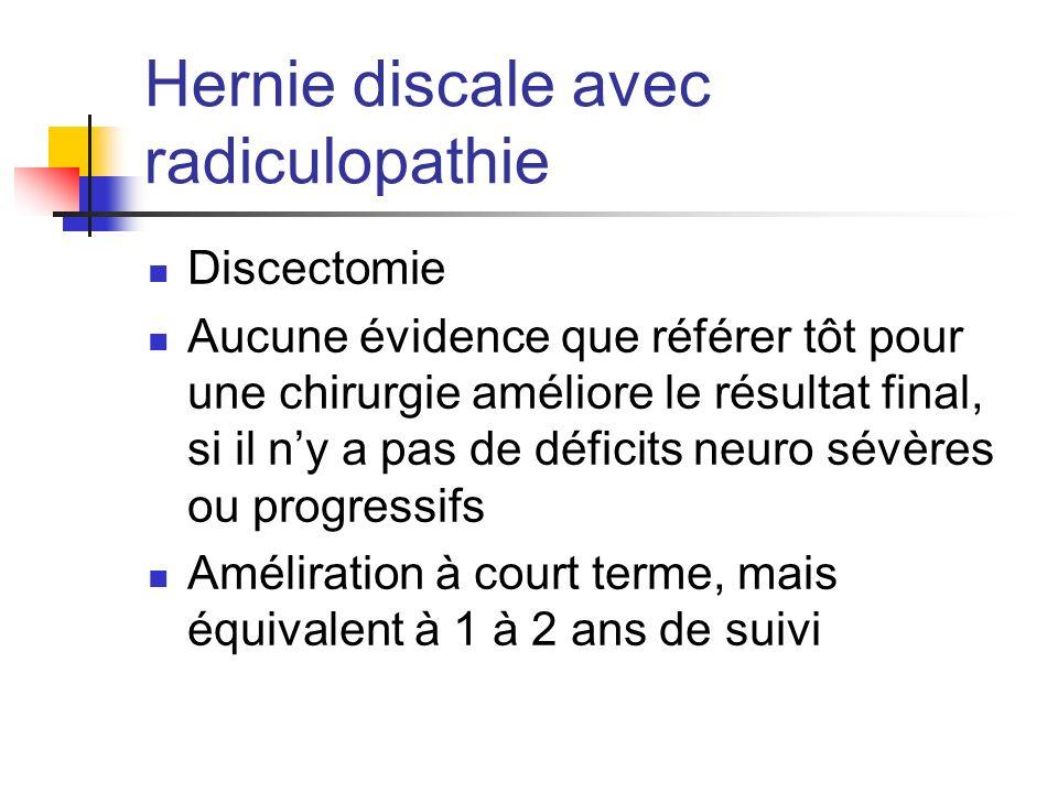 Hernie discale avec radiculopathie