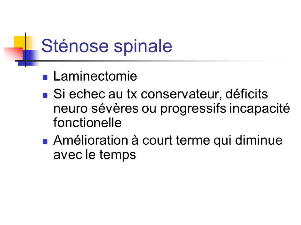 Sténose spinale Laminectomie