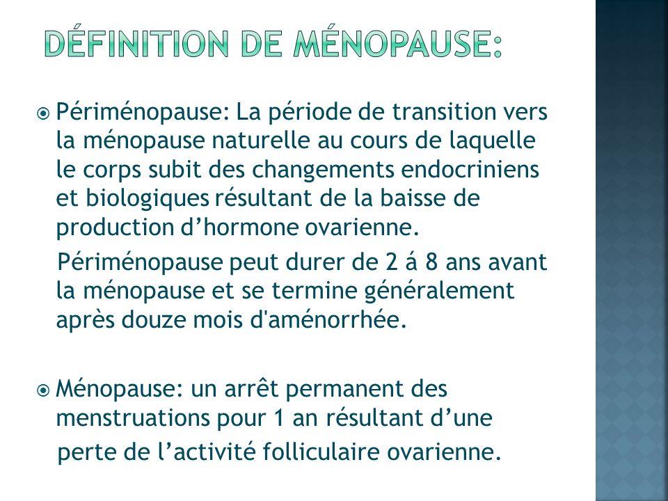 DÉfinition de mÉnopause: