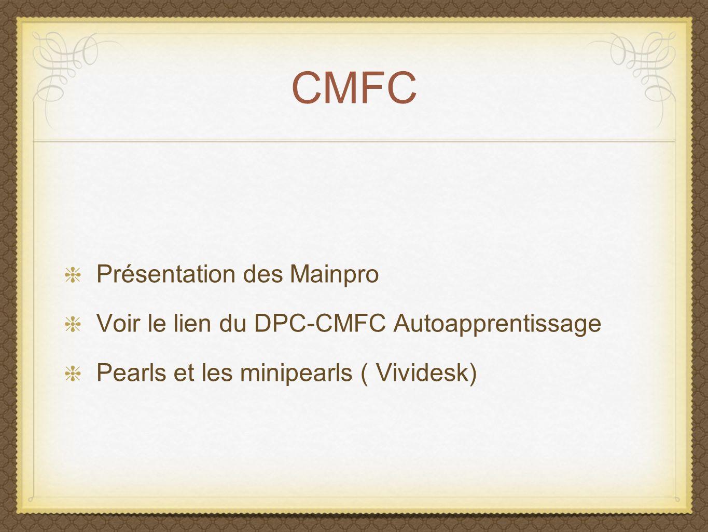 CMFC Présentation des Mainpro