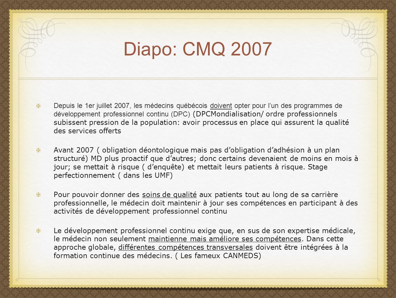 Diapo: CMQ 2007