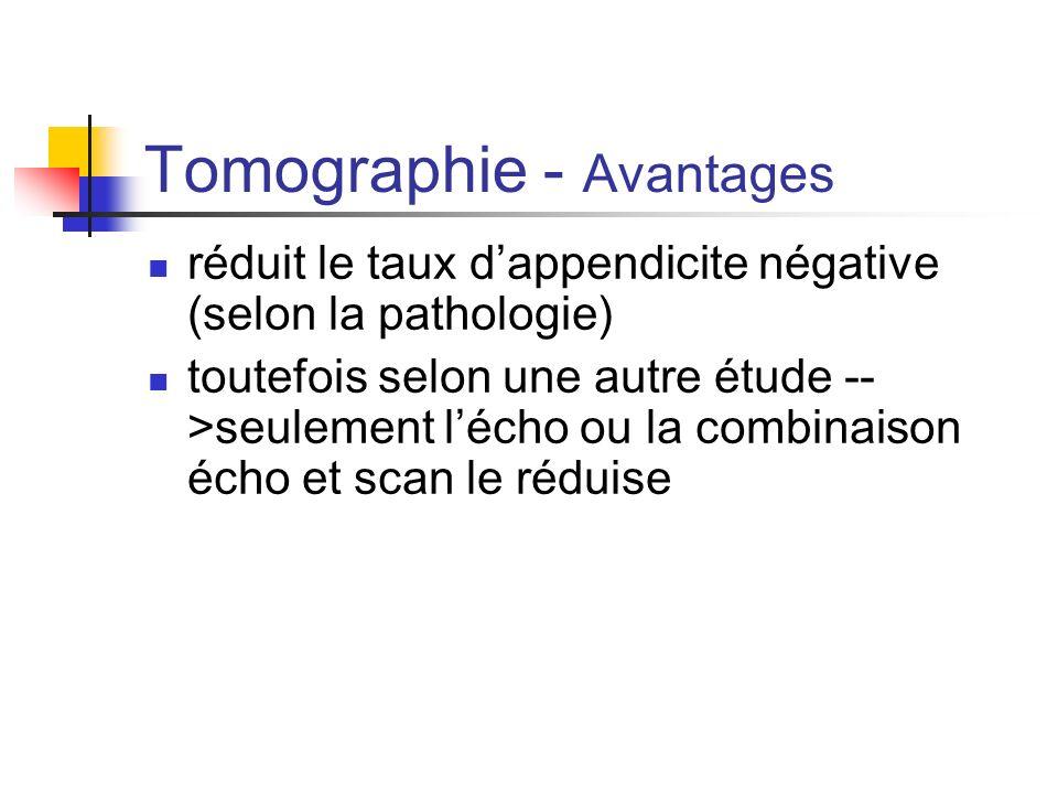 Tomographie - Avantages