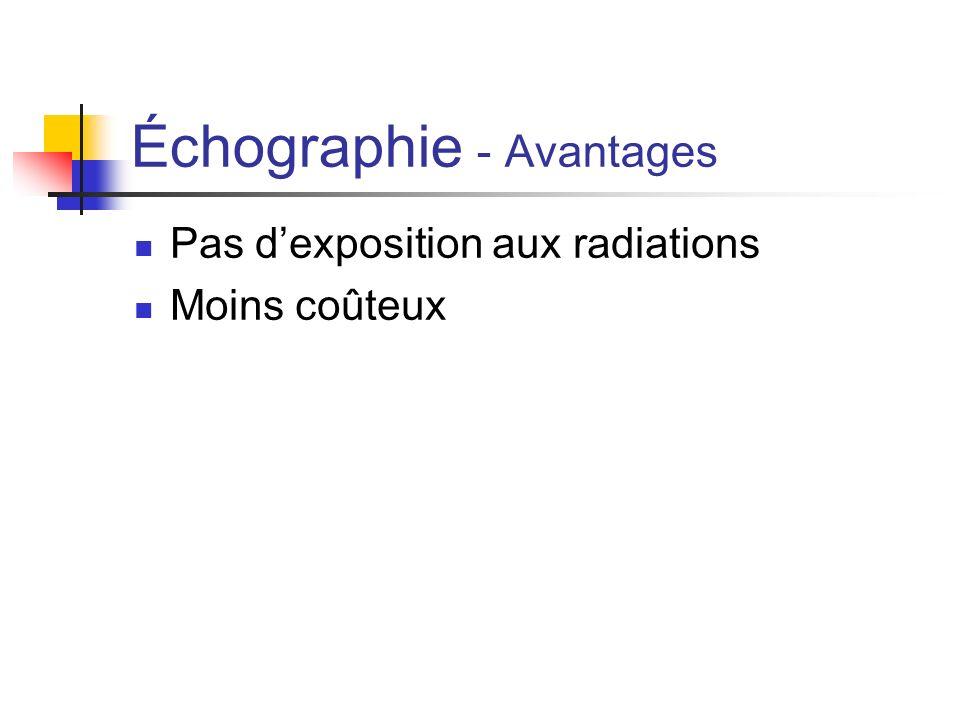 Échographie - Avantages