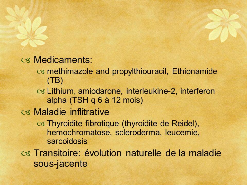 Transitoire: évolution naturelle de la maladie sous-jacente