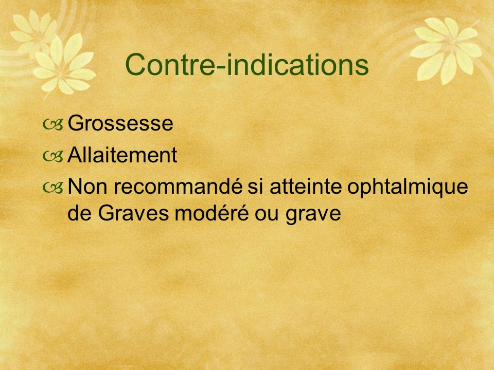 Contre-indications Grossesse Allaitement