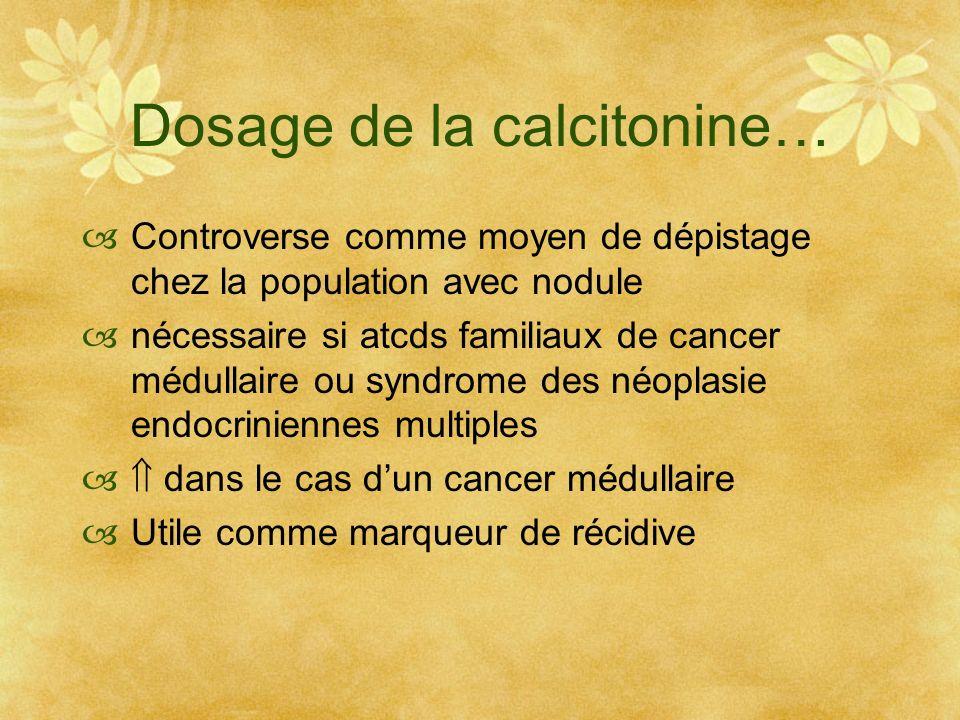 Dosage de la calcitonine…