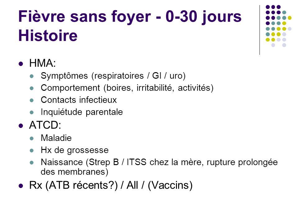 Fièvre sans foyer - 0-30 jours Histoire