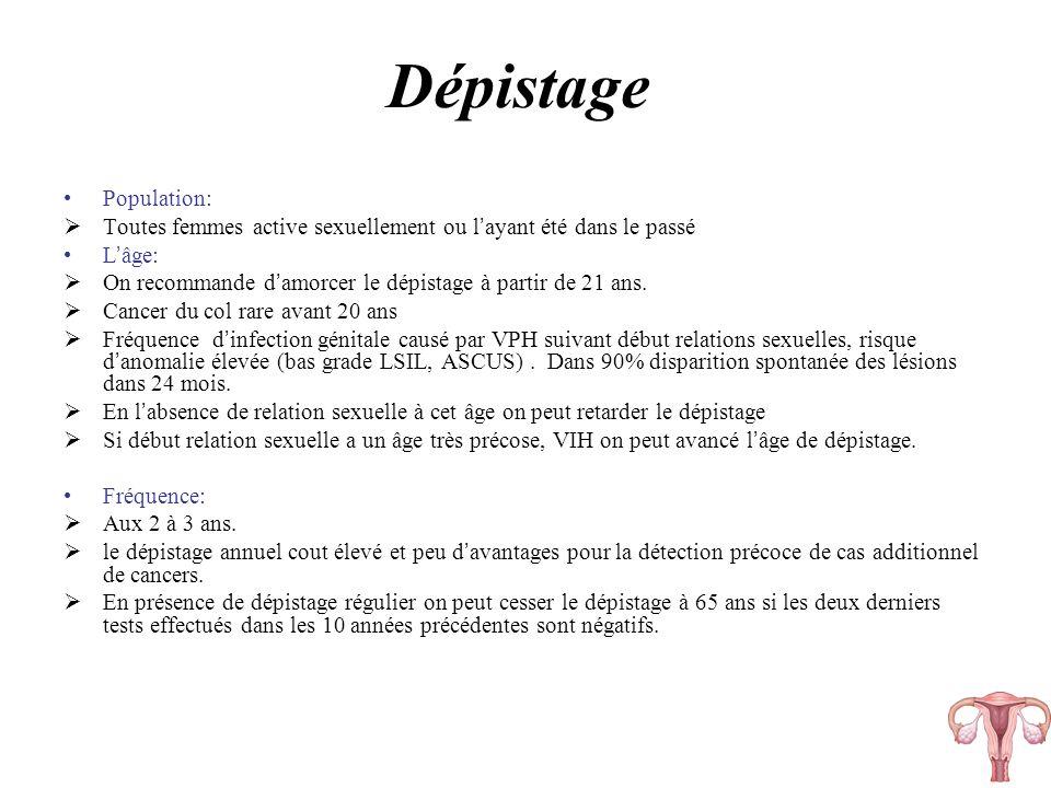 Dépistage Population: