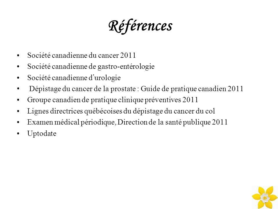 Références Société canadienne du cancer 2011