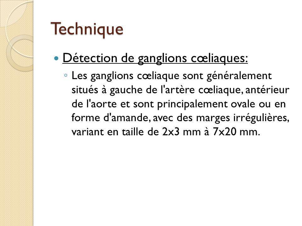 Technique Détection de ganglions cœliaques: