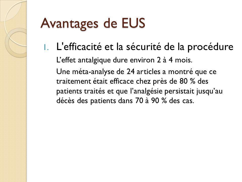 Avantages de EUS L efficacité et la sécurité de la procédure
