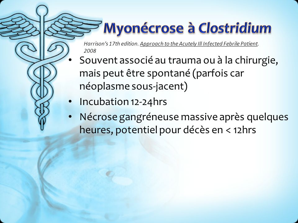 Myonécrose à Clostridium