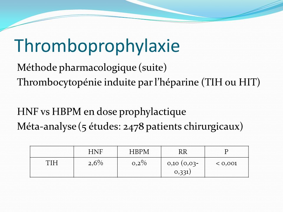 Thromboprophylaxie