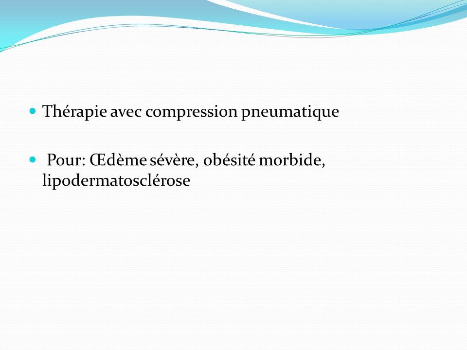 Thérapie avec compression pneumatique