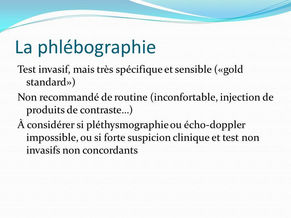 La phlébographie