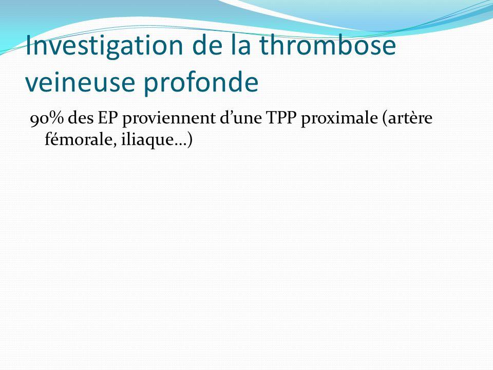 Investigation de la thrombose veineuse profonde