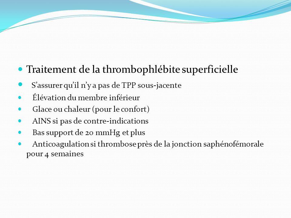 Traitement de la thrombophlébite superficielle