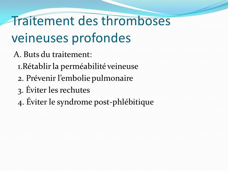 Traitement des thromboses veineuses profondes