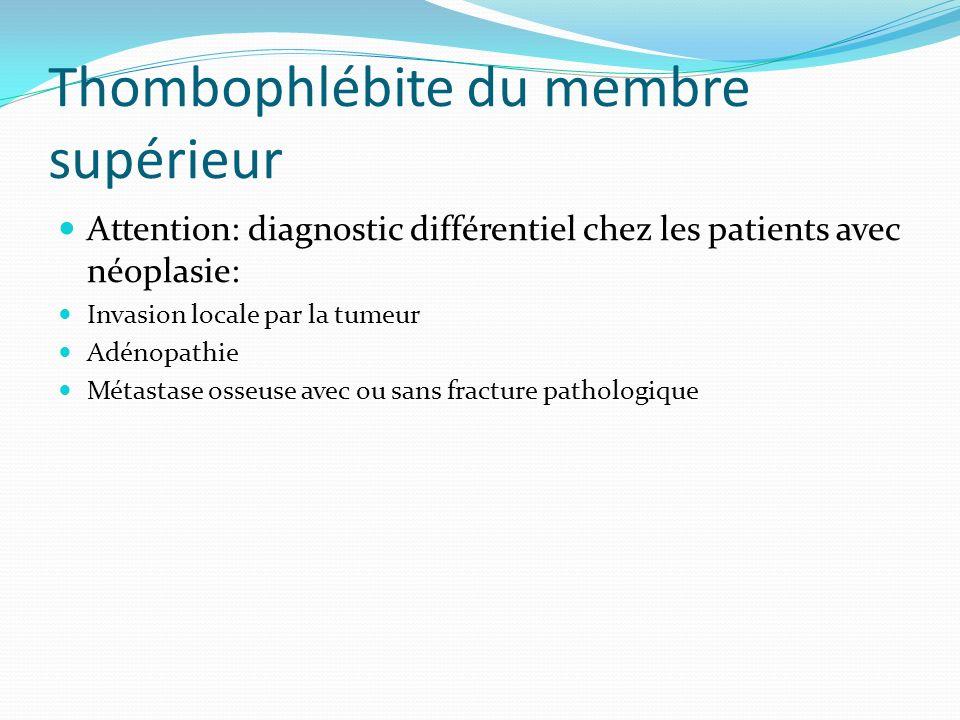 Thombophlébite du membre supérieur