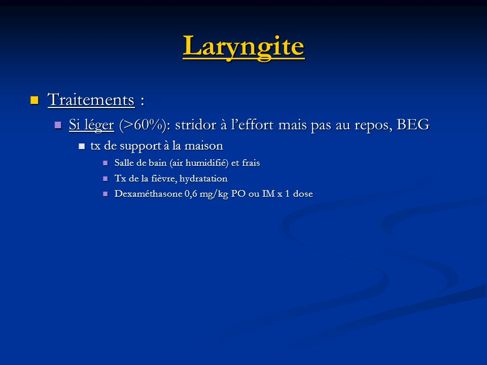 Laryngite Traitements :