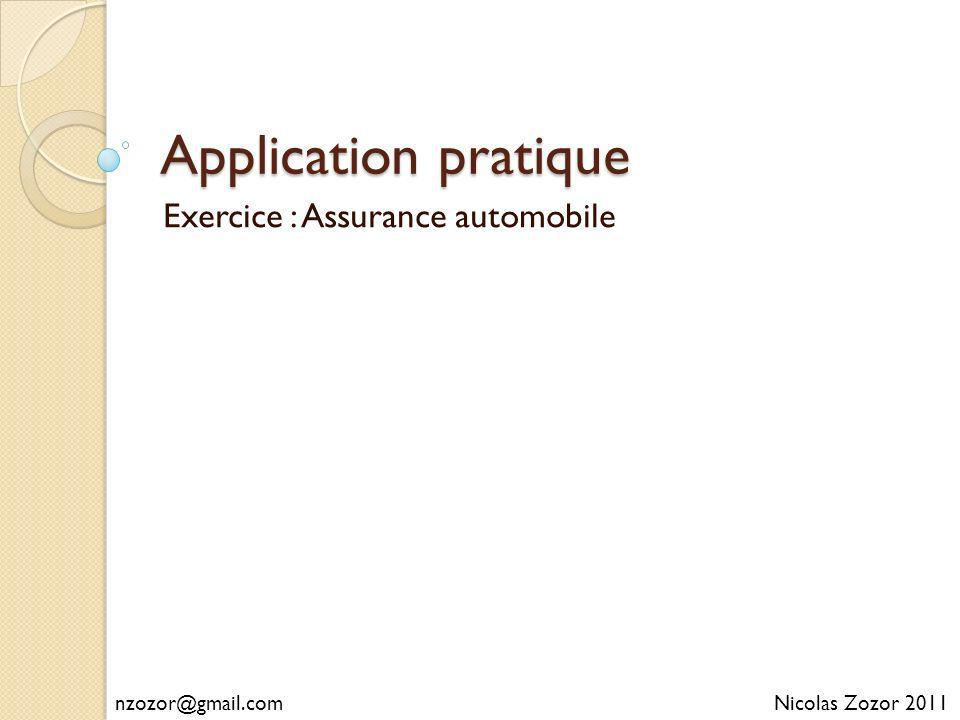 Exercice : Assurance automobile