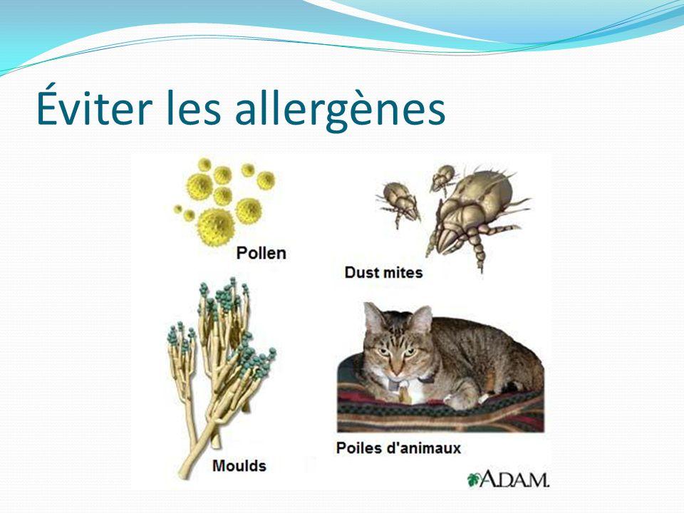 Éviter les allergènes