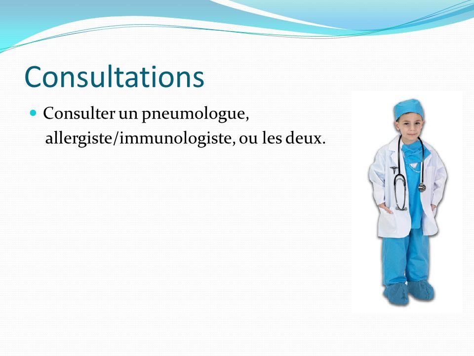 Consultations Consulter un pneumologue,