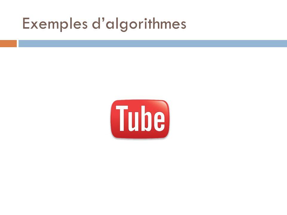 Exemples d'algorithmes